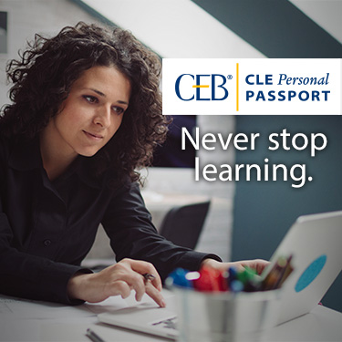 CEB CLE Personal Passport - Never stop learning.