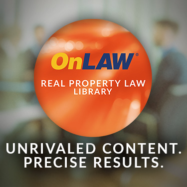 OnLAW Real Property Law Library