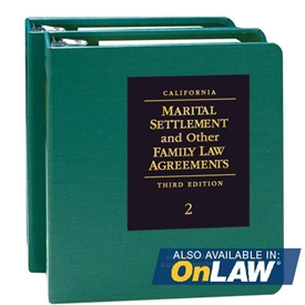 Picture of California Marital Settlement and Other Family Law Agreements