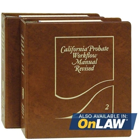 Picture of California Probate Workflow Manual Revised
