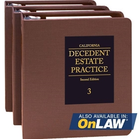 Picture of California Decedent Estate Practice