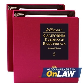 Picture of Jefferson's California Evidence Benchbook