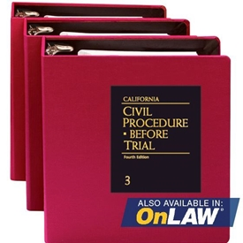 Picture of California Civil Procedure Before Trial
