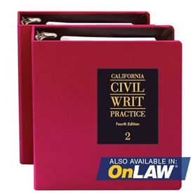 Picture of California Civil Writ Practice