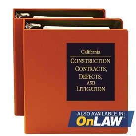 Picture of California Construction Contracts,  Defects, and Litigation