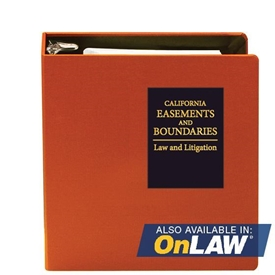 Picture of California Easements and Boundaries: Law and Litigation