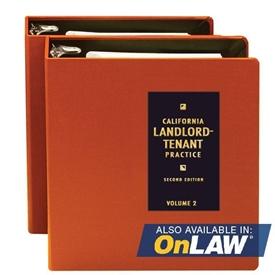 California Landlord-Tenant Practice