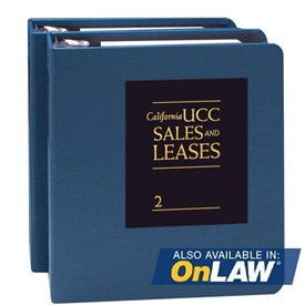 California UCC Sales and Leases