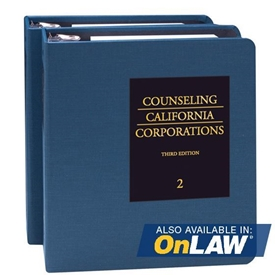 Counseling California Corporations