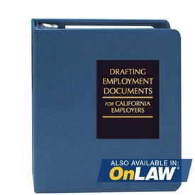 Drafting Employment Documents for California Employers