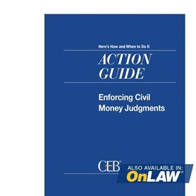 Enforcing Civil Money Judgments