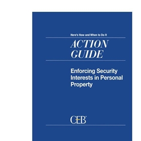 Enforcing Security Interests In Personal Property