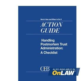 Handling Postmortem Trust Administration: A Checklist