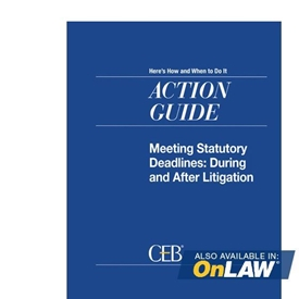 Meeting Statutory Deadlines: During And After Litigation