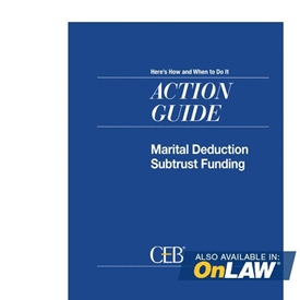 Marital Deduction Subtrust Funding