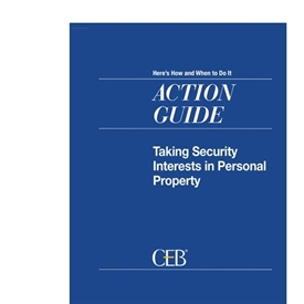 Taking Security Interests In Personal Property