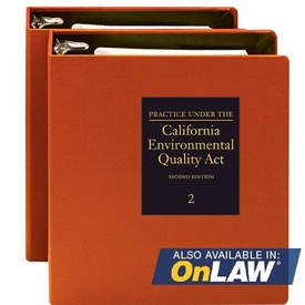 Practice Under The California Environmental Quality Act