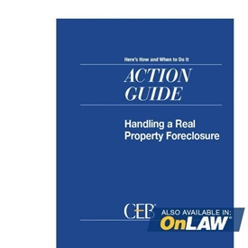 Handling A Real Property Foreclosure