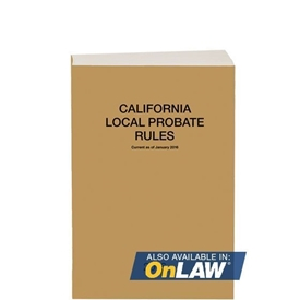 Picture of California Local Probate Rules 2019