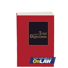 California Trial Objections