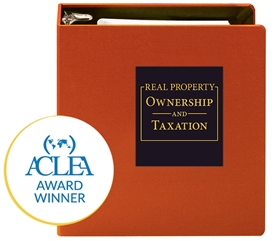 Real Property Ownership and Taxation ACLEA award winner for Outstanding Achievement 2017