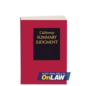 California Summary Judgment 2017