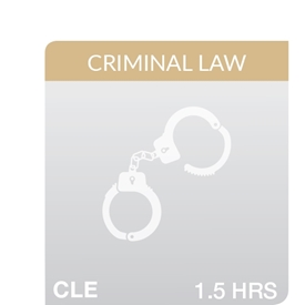 Key Developments in Criminal Law, New Statutes, Rules, and Forms 2020