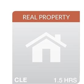 Key Developments in Real Property 2019